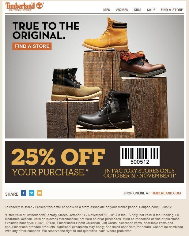 timberland discount coupons