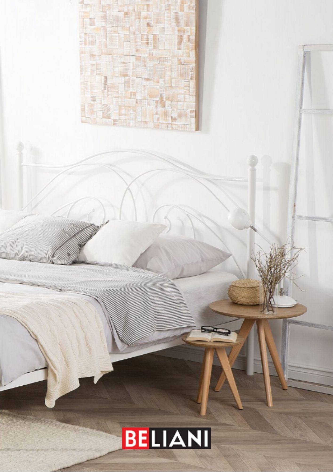Metallbett Weiss Lattenrost 140 X 200 Cm Dinard In 2020 Furniture Home Decor Bed