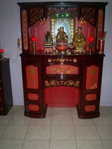 Buddhist Home Shrine.