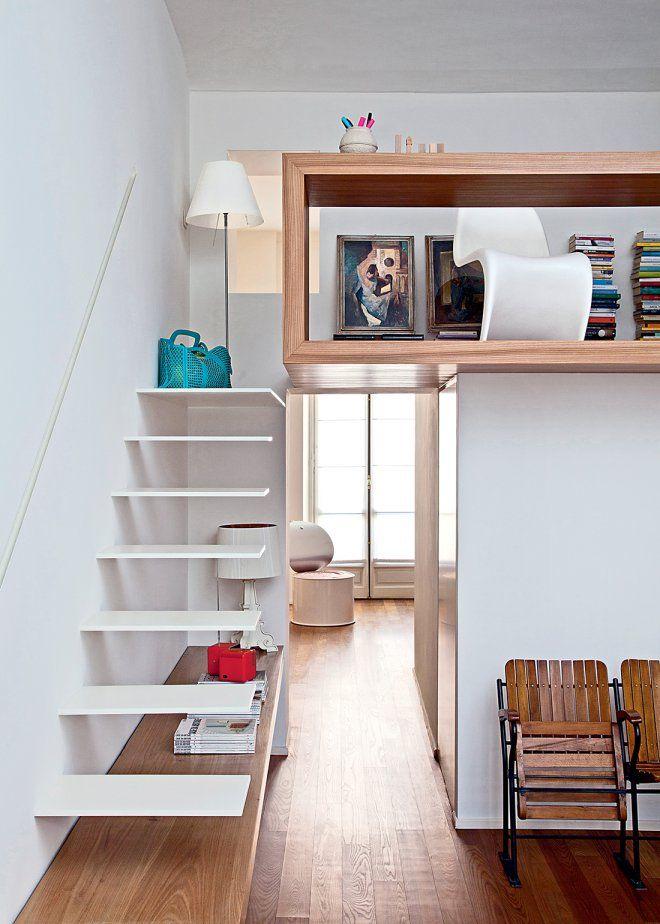 Comment créer une mezzanine dans le salon ? | Mezzanine, Marche et ...
