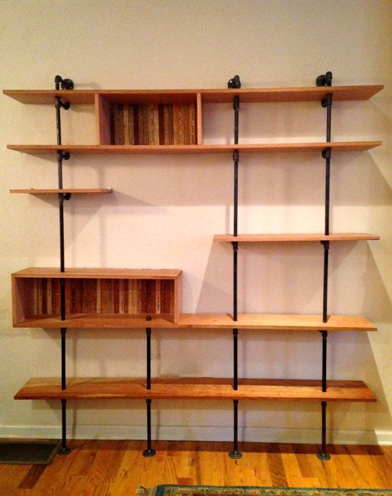 Mid Century Modern Shelving Unit Reclaimed Wood By Reclaimedpa 1079