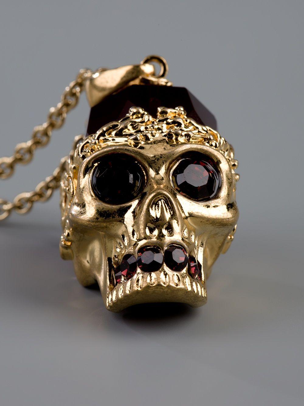 """Alexander McQueen pendant """"omg........... Couture jewels"""