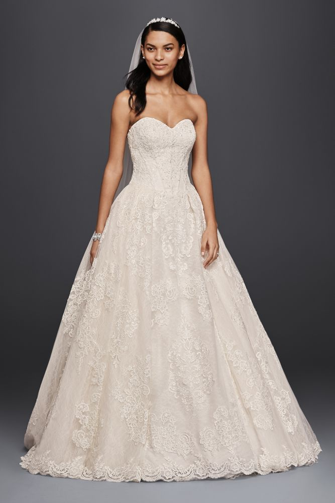 Extra length oleg cassini wedding ball gown wedding dress with extra length oleg cassini wedding ball gown wedding dress with beaded lace solid white junglespirit Images