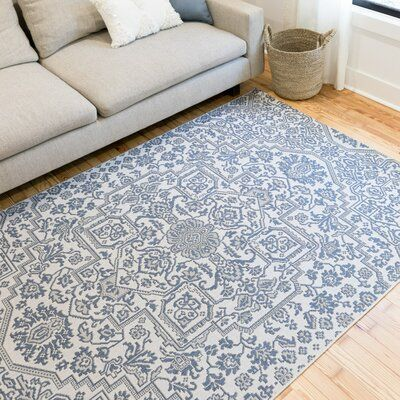 Charlton Home Olszewski Oriental Blue Indoor Outdoor Area Rug Rug