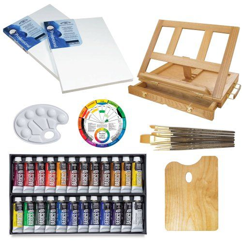 Custom 24 acrylic color artist painting kit with liquitex for Acrylic mural paint supplies