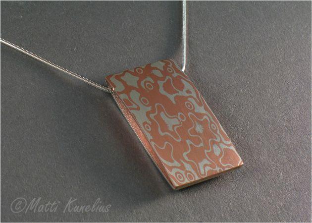 Mokume pendant sterling silver copper mokume sterling silver mokume pendant sterling silver copper mokume sterling silver backing mkunelius aloadofball Gallery