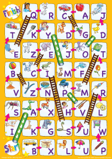 Uppercase Alphabet Chutes  Ladders Game From Super Simple