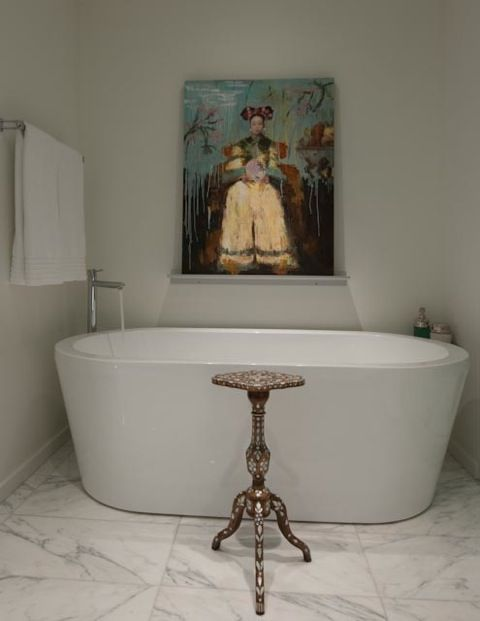 Love This Gorgeous Bathroom By Julie Molnar! Great Juxtapositions... Photo  Heather Ross