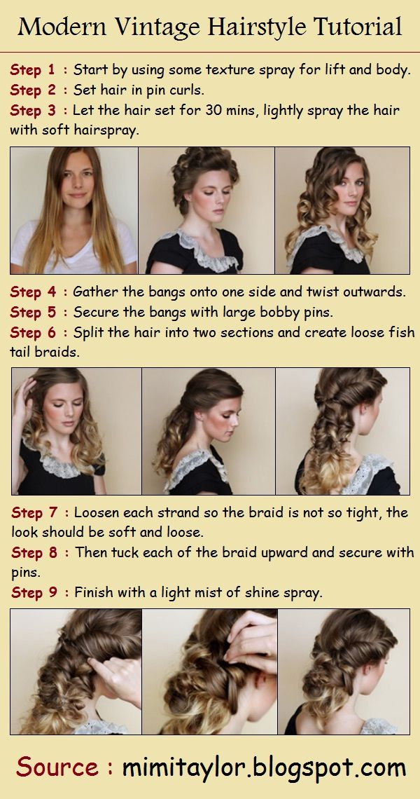 Modern Vintage Hairstyle Tutorial Love Her Back And White Top Too