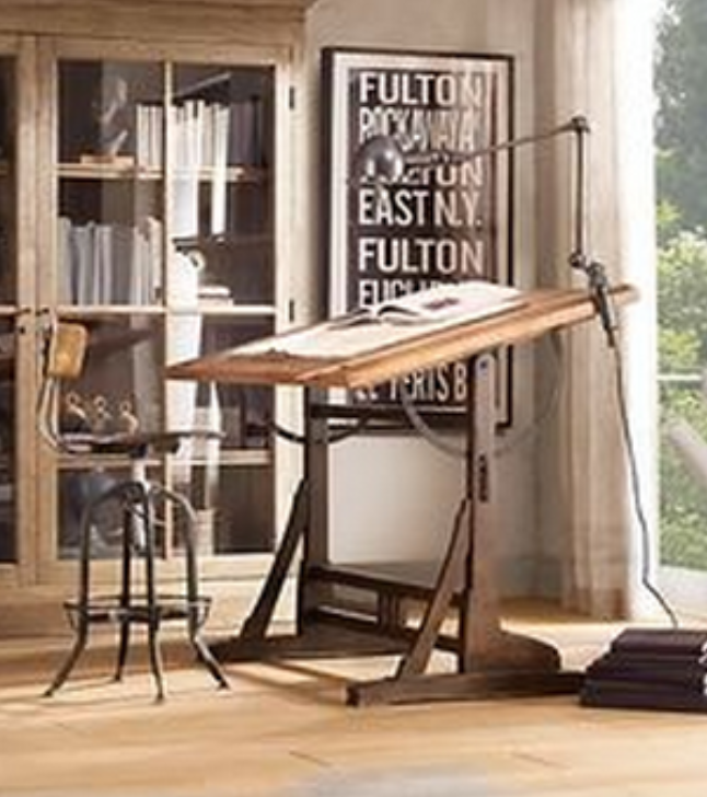 Space To Create ✏ Artist Studios U0026 Creative Workrooms   1920s Drawing Table  In Light Filled Art Loft