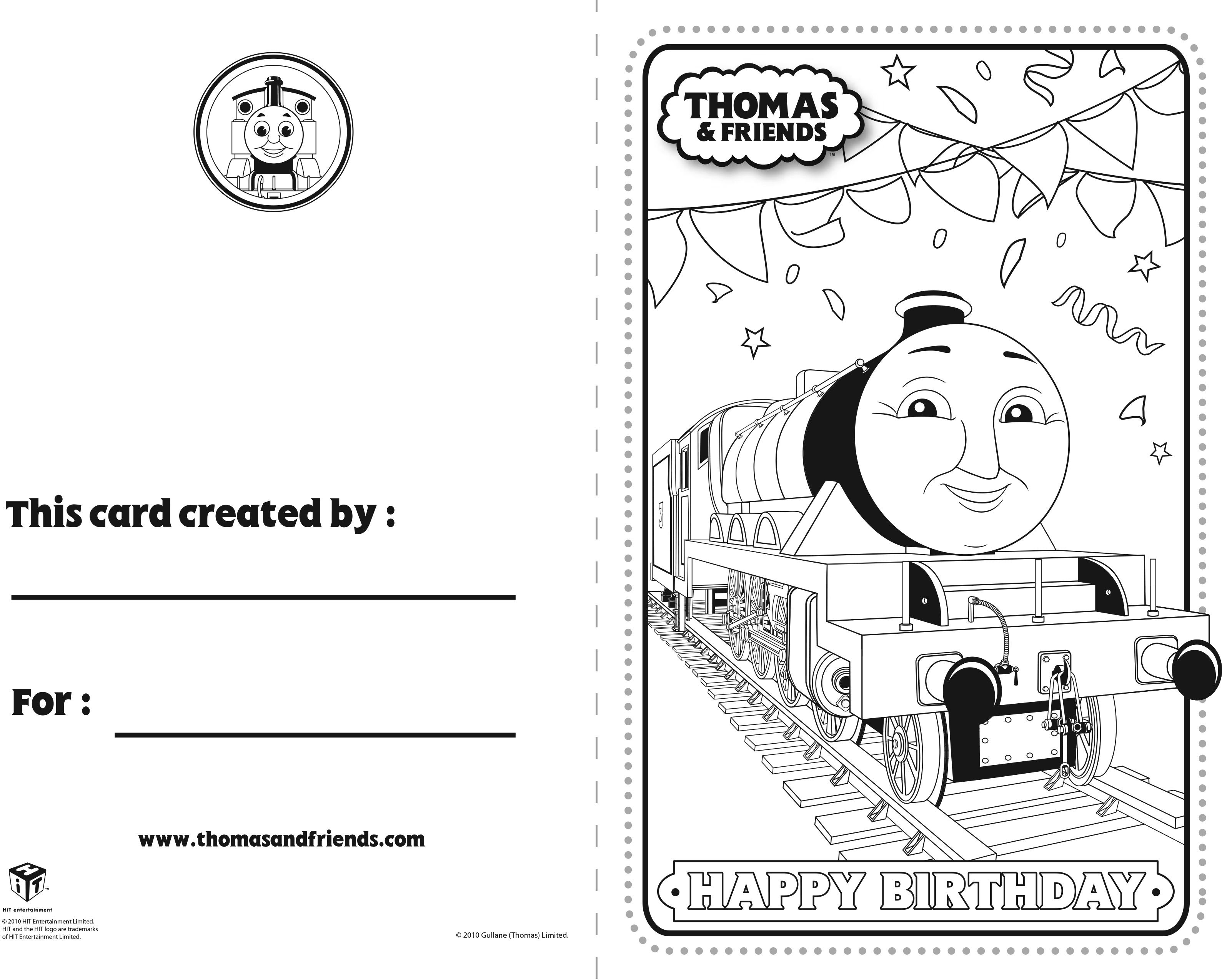 Thomas And Friends Birthday Card Henry Thomasandfriends