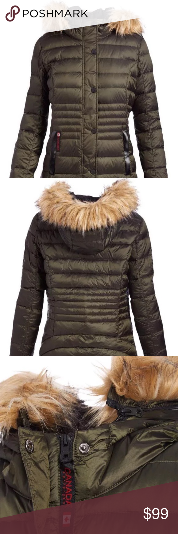 7a9eddf50 ✨FINAL SALE✨ canada weather gear down puffer coat Gorgeous new with tags Canada  Weather Gear women's down puffer coat in size medium! Olive in color and ...