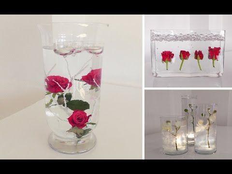 Diy: Centerpiece Für Tisch-deko -- Unterwasser Blumen | Deko ... Garage Dekoration Mit Blume