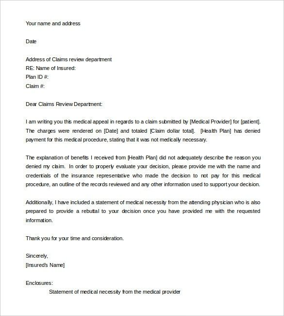 Appeal Letter Template You Will Never Believe These ...