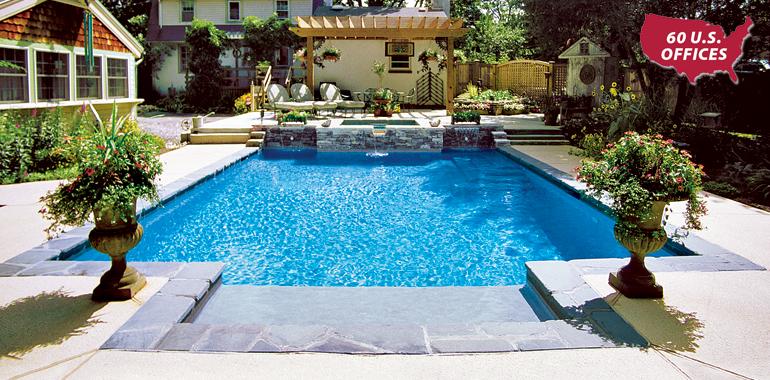 North jersey custom inground pool company concrete pool for Pool design companies