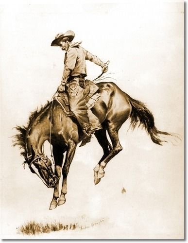 Frederic Remington NEW WESTERN ART POSTER Vaquero