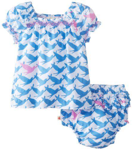 Hatley - Baby Baby-Girls Newborn Smocked Voile Bloomer Set Shore Birds