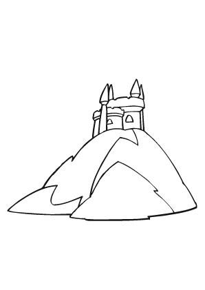 Ausmalbild Burg Auf Einem Berg Ausmalen Ausmalbild Burg