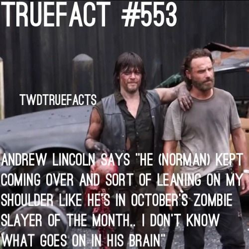 Andy's interview about Norman on the set. @wwwbigbaldhead