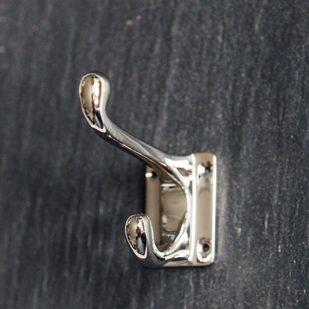 Stylish Hooks hat & coat hook in polished nickel | coat hook | pinterest | coat