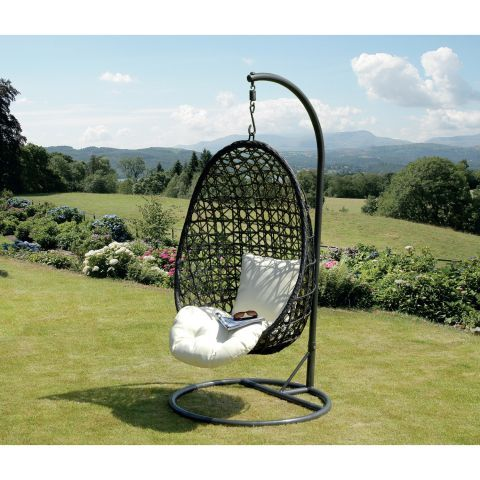 Suntime Cocoon Hanging Chair in Black – The UK\'s No. 1 Garden ...