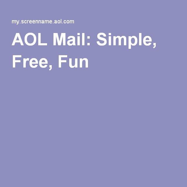 aol mail simple fun free