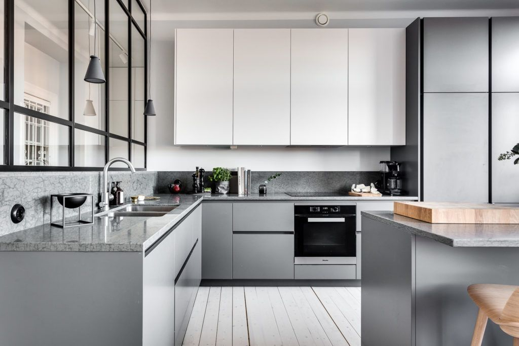 Modern gray kitchen cabinets beat monotony with style home