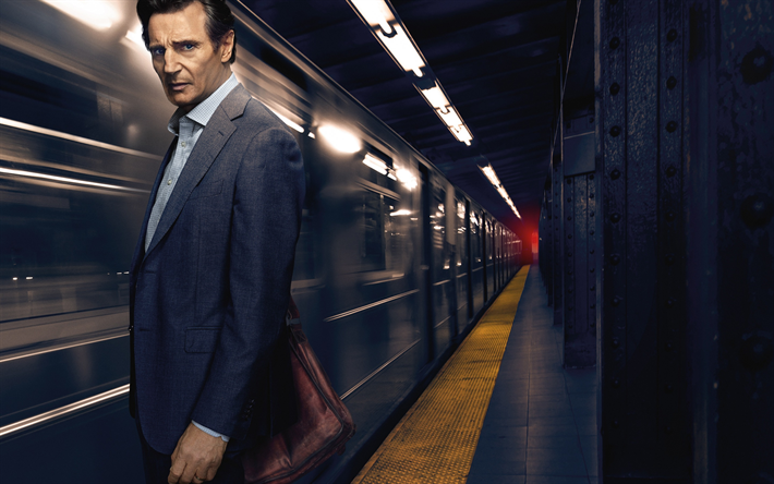 Download wallpapers The Commuter, 2018, Liam Neeson, Michael