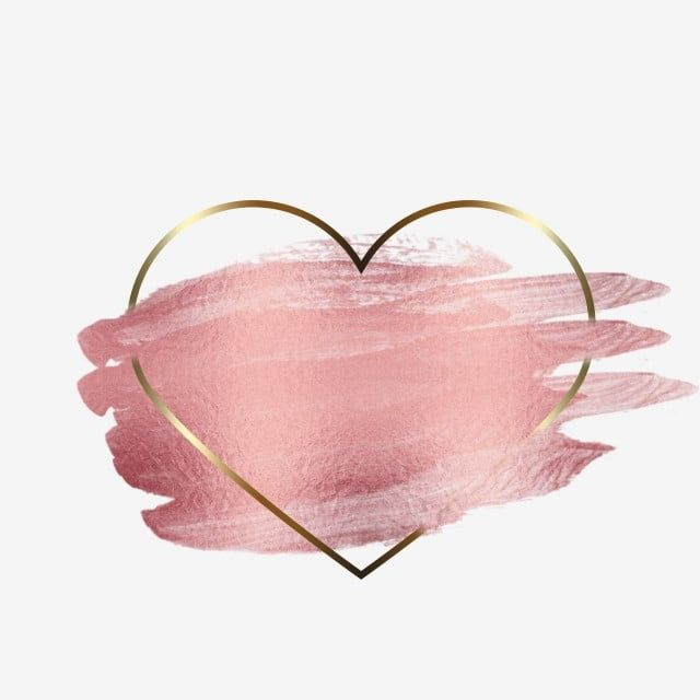 Heart Frame Gold Transparent Element, Heart Shape, Frame, Abstract PNG Transparent Clipart Image and PSD File for Free Download