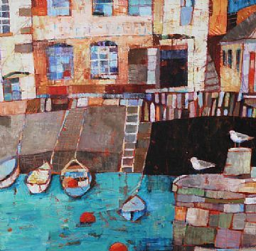 Quayside at Falmouth by Sally Anne Fitter