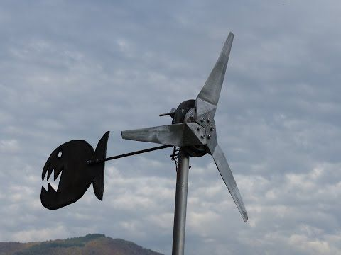 Fabriquer Son olienne Et Gnrateur  Homemade Wind Turbine And