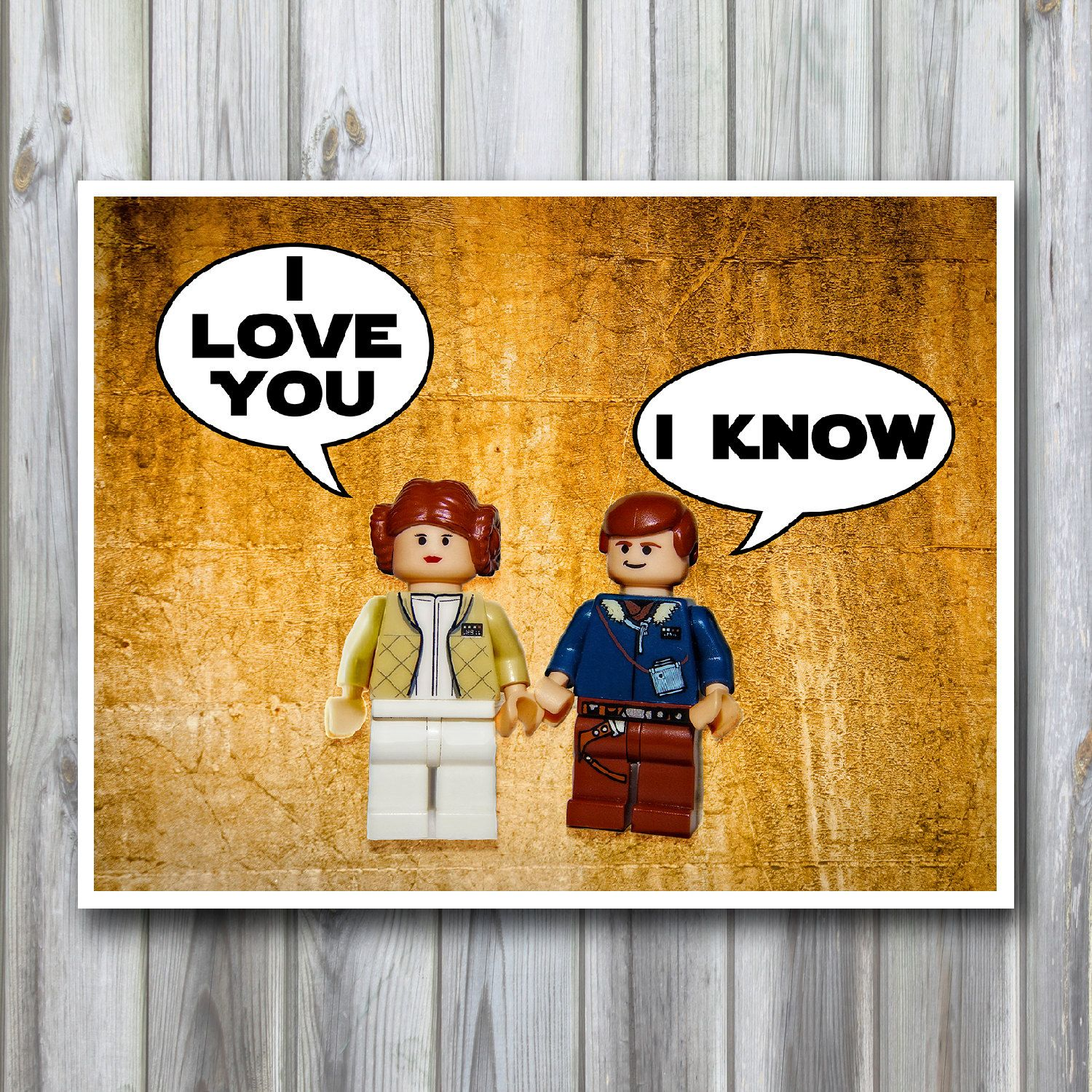 Star wars poster 11x14 Poster Print I love you I know Wall decor Han ...