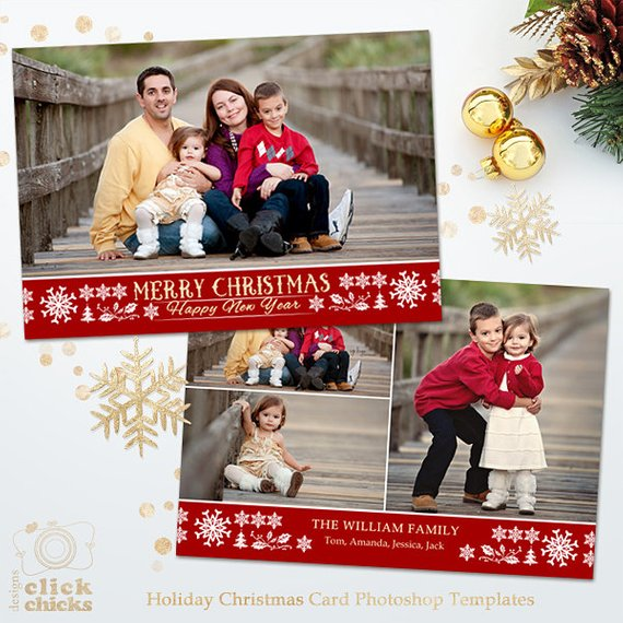 Christmas Card Template For Photographers And Personal Use Holiday Card Photosho Christmas Card Template Christmas Card Pictures Personalised Christmas Cards