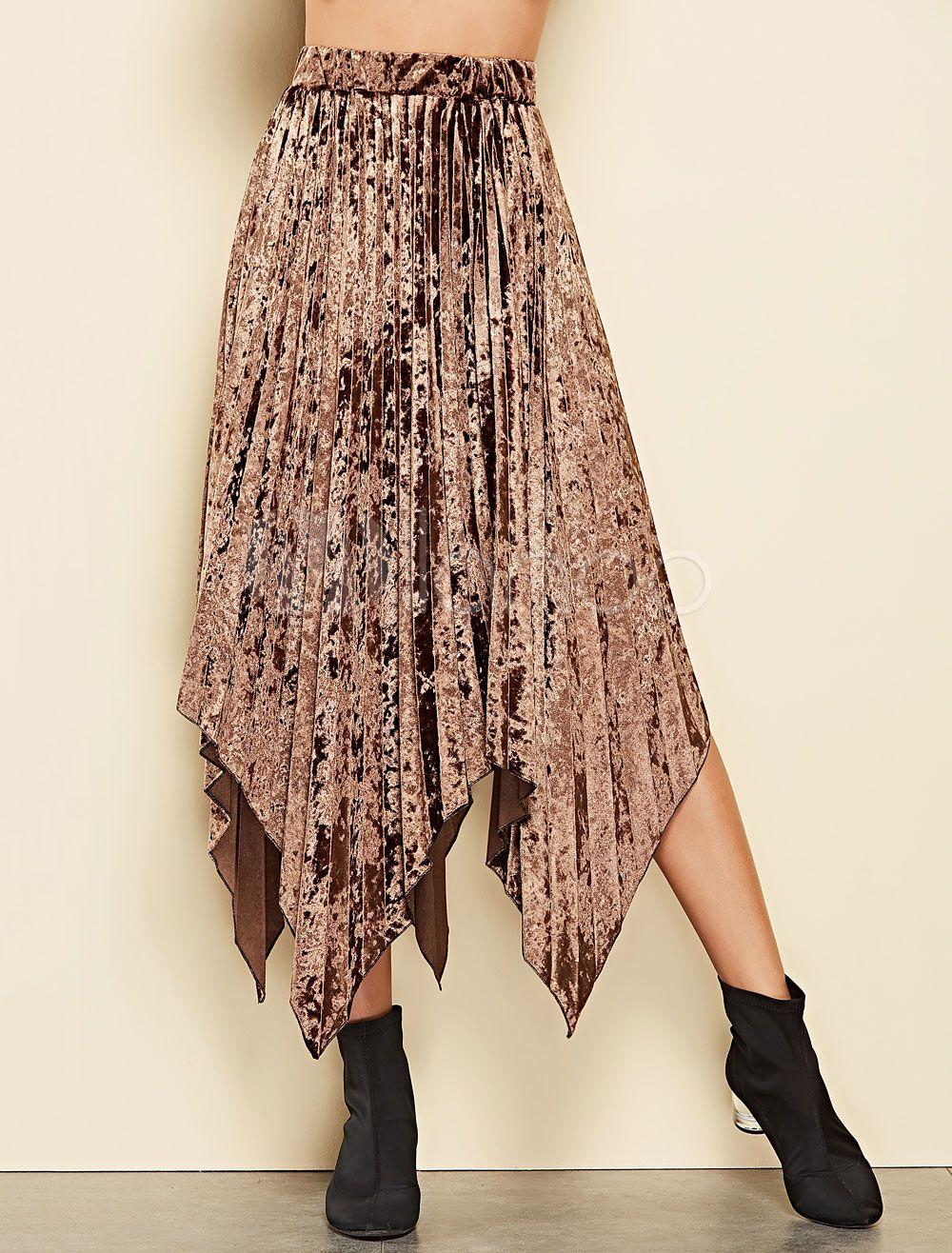 Jupe longue pliss/ée /à taille /élastique pour femme