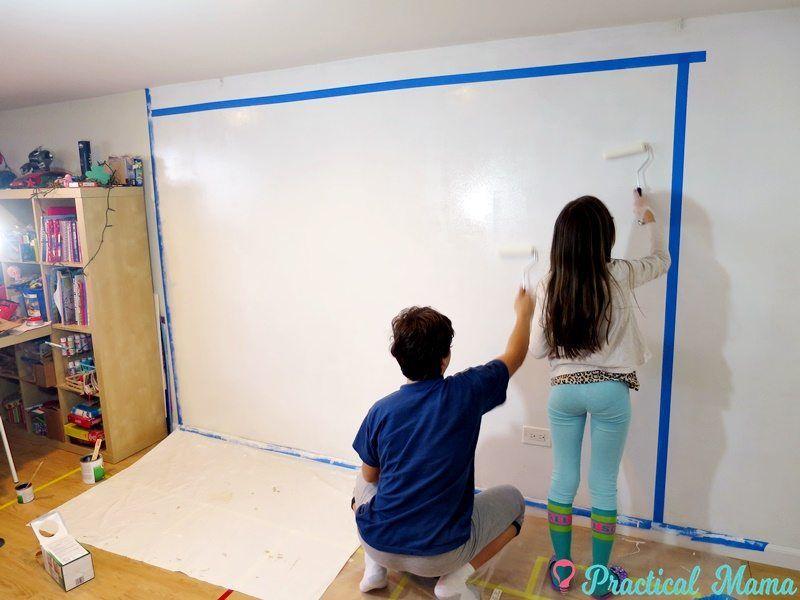 Diy dry erase whiteboard wall dry erase whiteboard