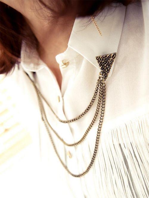 Fashion Retro Punk Tassel Collar Jewelry Brooches