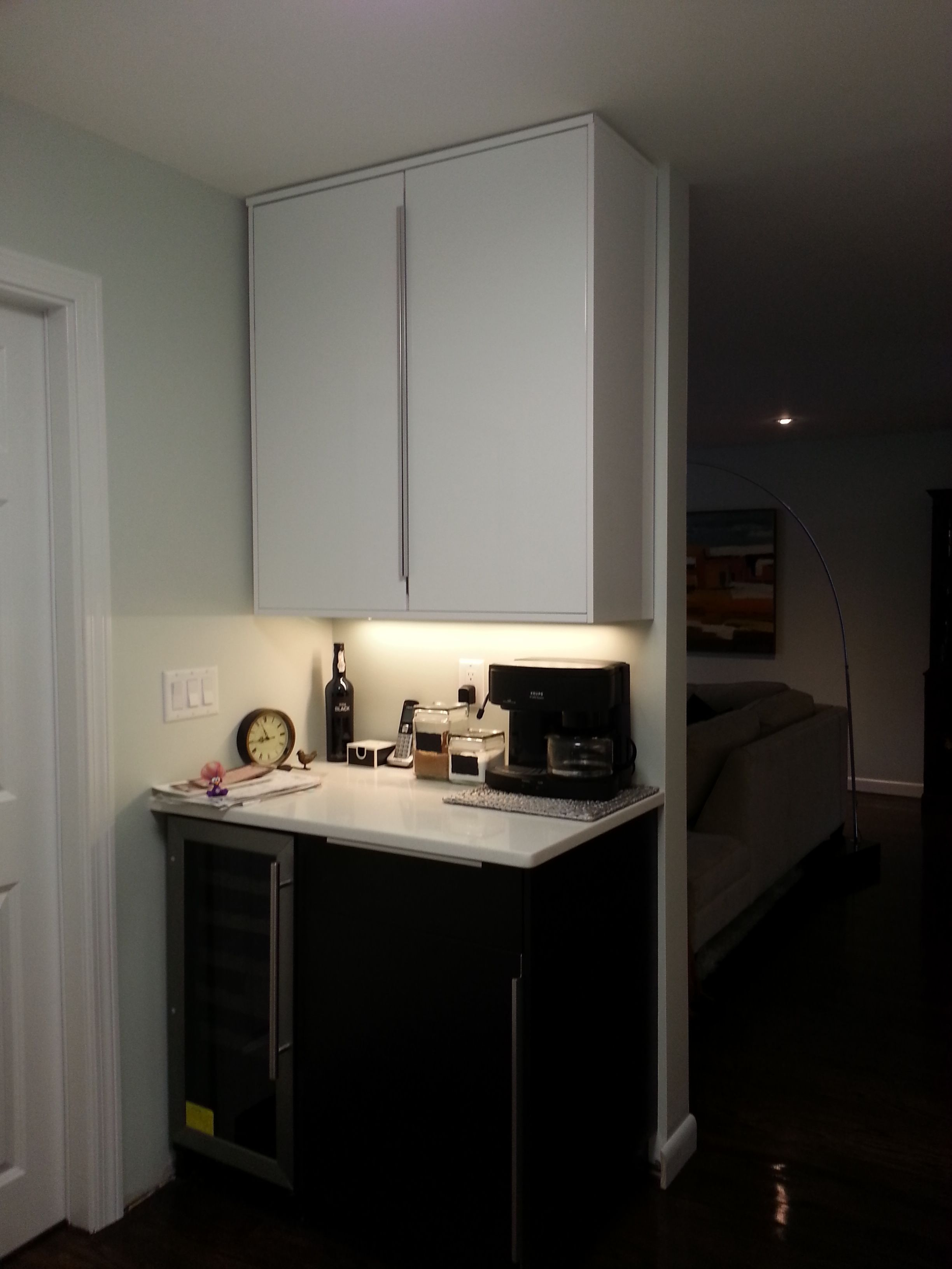 Ringhult white with blankett handles Ikea kitchen design