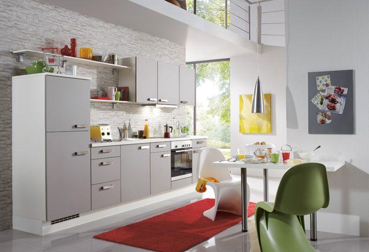 Küche in grau küchenzeile singleküche www dyk360 kuechen de