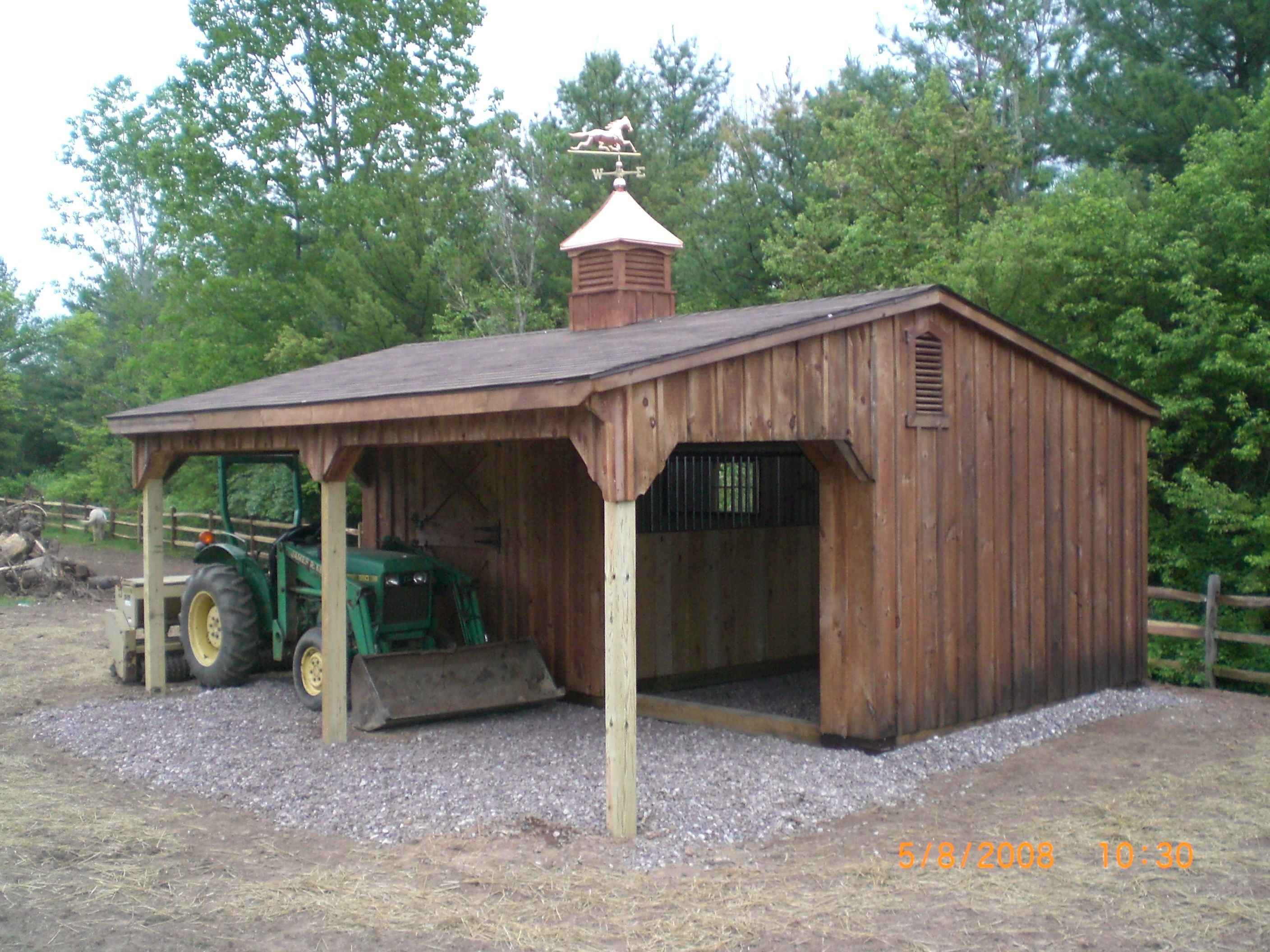 Standard features on pine run in shed w 8ft or 10 ft for Lean to barn