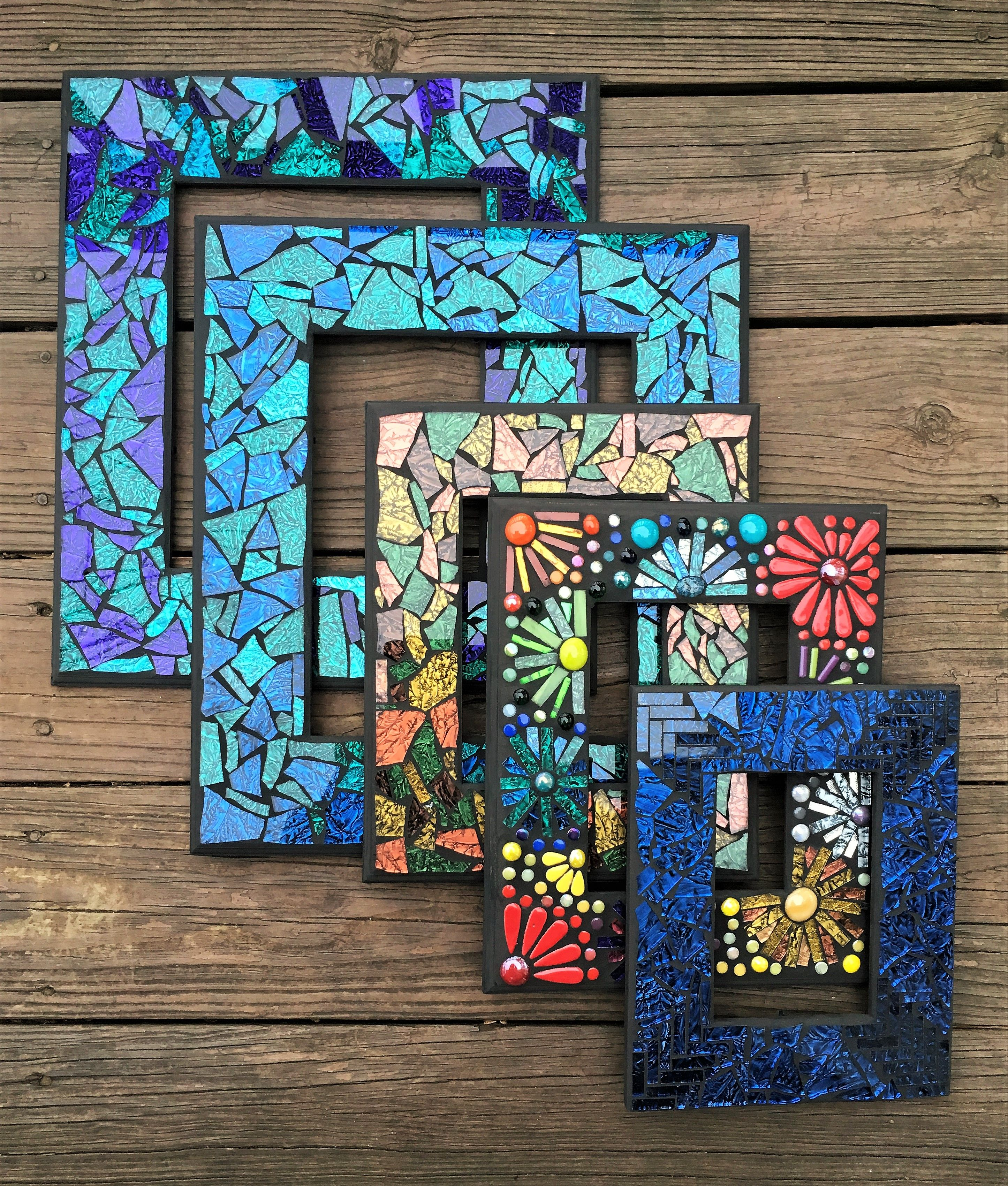 Custom Mosaic Picture Frames By Tina Wise Crackin Mosaics