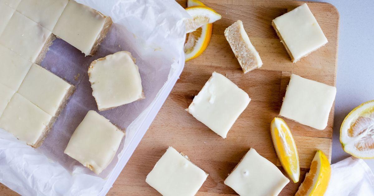 No Bake Lemon Coconut Slice Recipe Coconut Slice Lemon Coconut Lemon Coconut Slice
