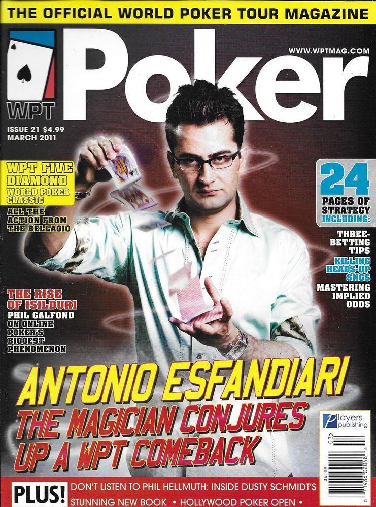 Poker magazine Antonio Esfandiari Strategies Betting tips
