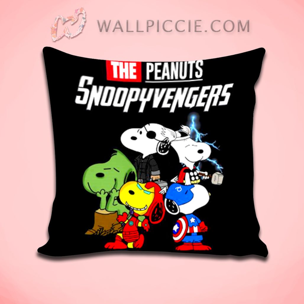 The Peanuts Snoopy Avengers Decorative Pillow Cover