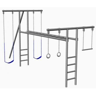 Steel Jungle Gym Costs Nearly 2k Jungle Gym Backyard Jungle Gym Playground Backyard Diy