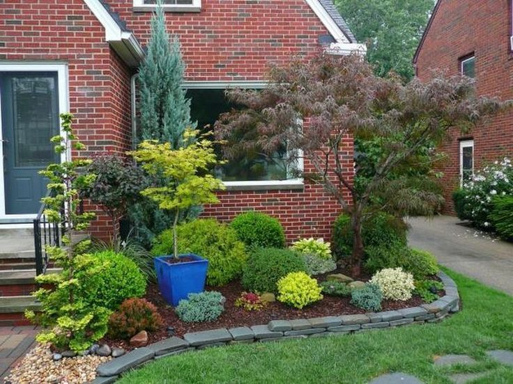 51 clever ideas for an evergreen landscaped garden in your