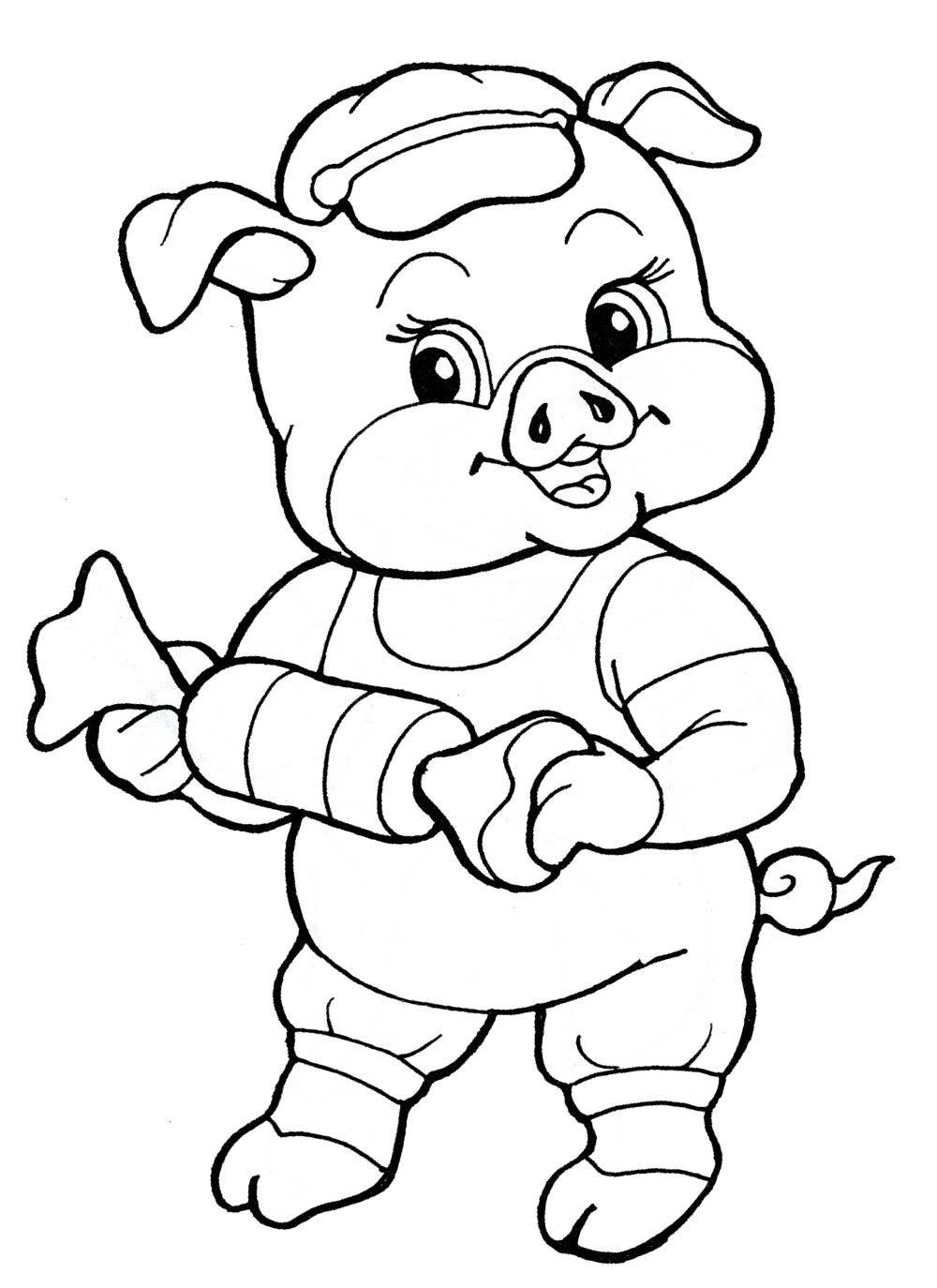 числу картинки свинок смешных для раскраски они морские львы