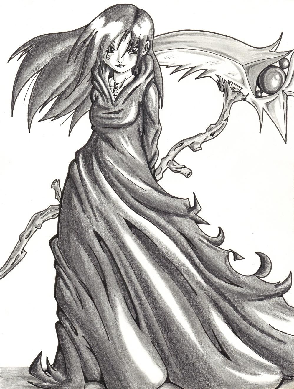 Girl Reaper With Images Reaper Drawing Grim Reaper Drawing