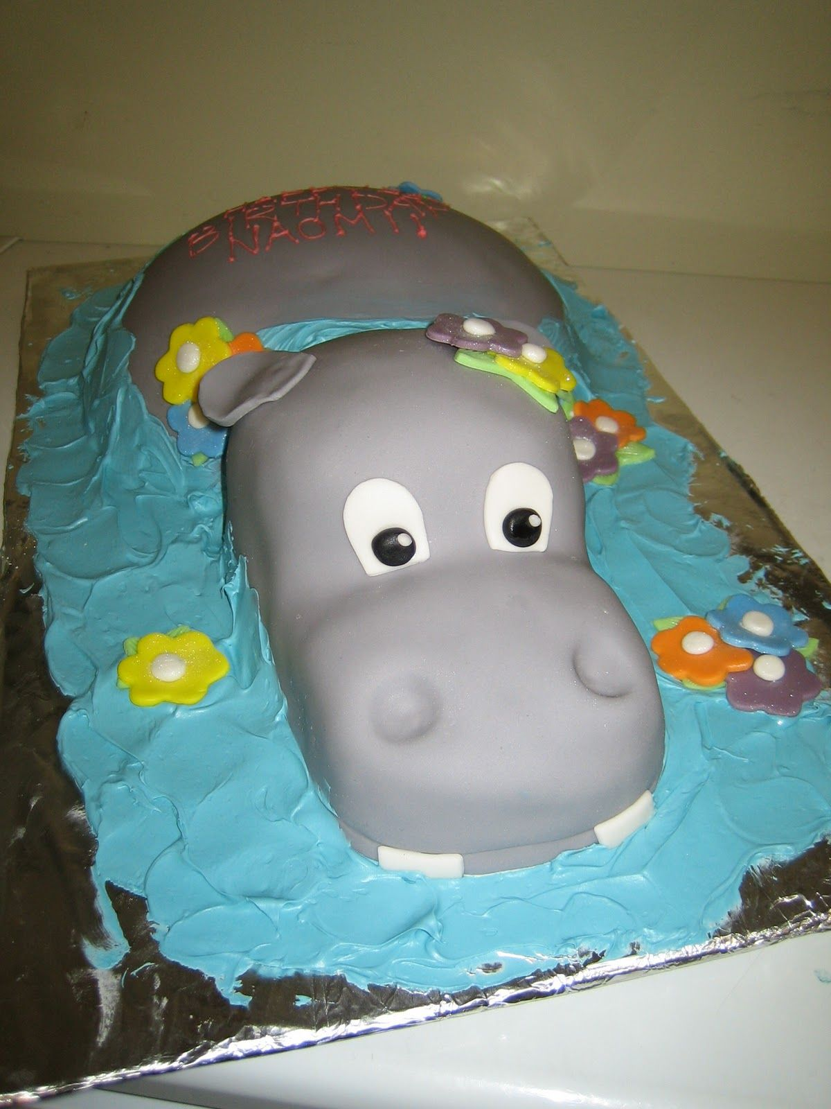 Surprising Hippo Just For You Megan Ward Ward Hall Hippo Cake Custom Personalised Birthday Cards Akebfashionlily Jamesorg