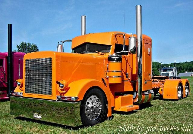 Trucks Custom Big Rig Orange : Custom orange peterbilt car motorcycle big rigs