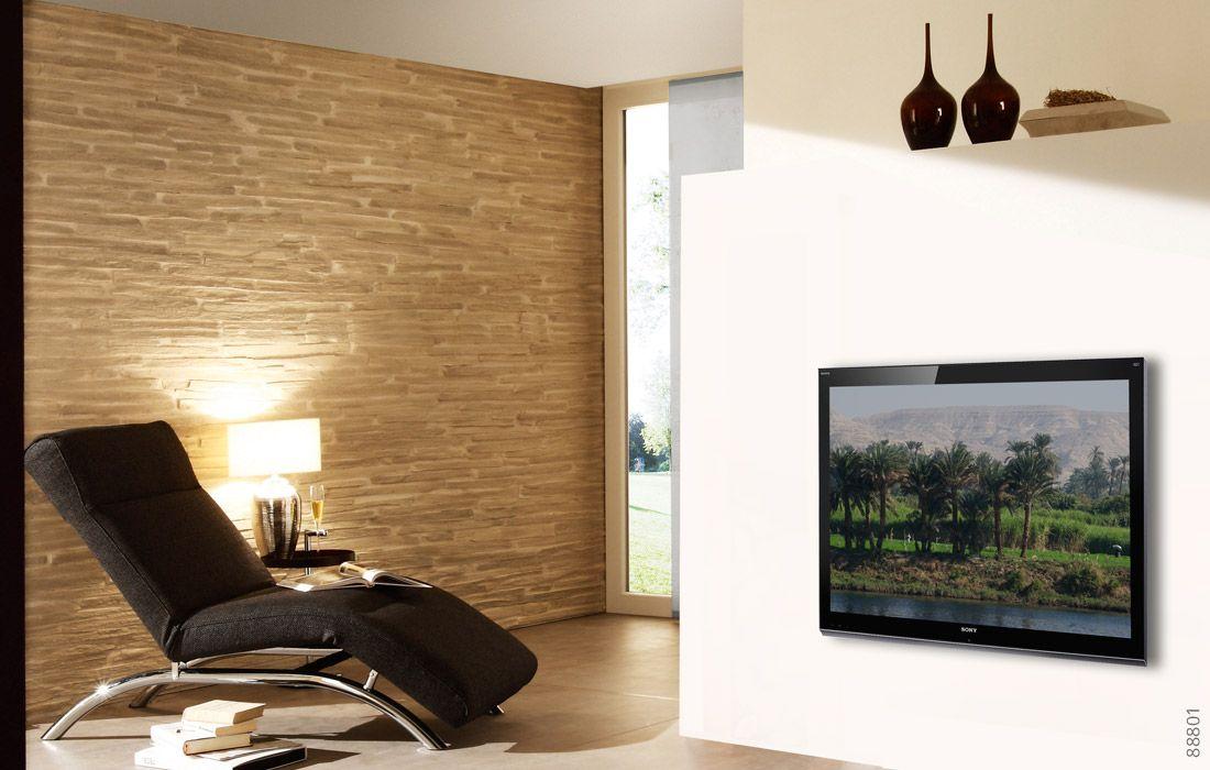 Optik Stein Wand Pirenaica Wandgestaltung Wohnzimmer Pinterest - wohnzimmer design wand stein